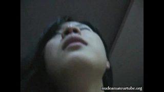 Very sexy asian amateur chick enjoy homemade sex